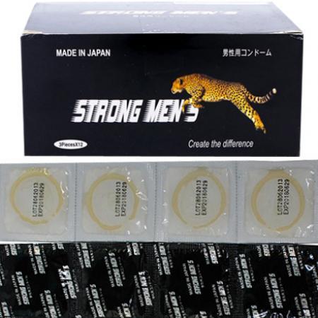 3 hộp Bao cao su Strong Men's chính hãng