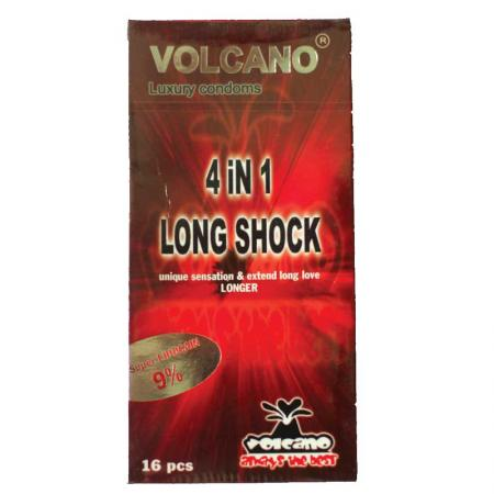 1 HỘP bao cao su Volcano  4in1 16 Cái cao cấp
