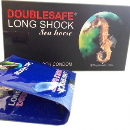 5 hộp Bao Cao Su Cá Ngựa Double safe Longshock cao cấp