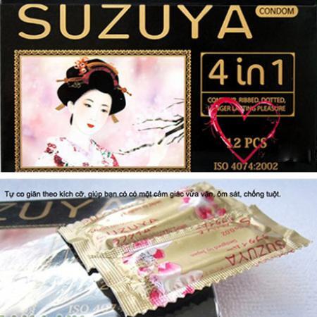 3 Bao cao su Suzuya 4 in 1 hàng hiệu