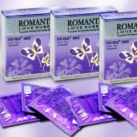 5 hộp BAO CAO SU ROMANTIC FIT-TEX 003 SIÊU MỎNG chính hãng