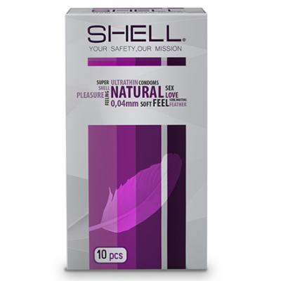 3 hộp Bao cao su Shell Natural 0.04 10s hàng hiệu