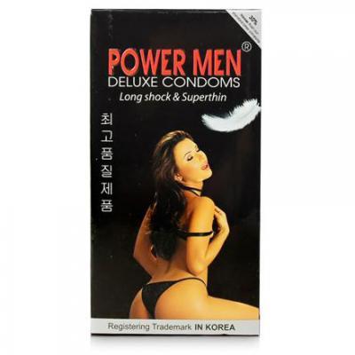 5 Hộp Bao cao su Power Men Long Shock and Super Thin chính hãng